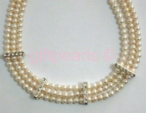 Elegant, 'Princess Grace' style necklace with optional matching bracelet.
